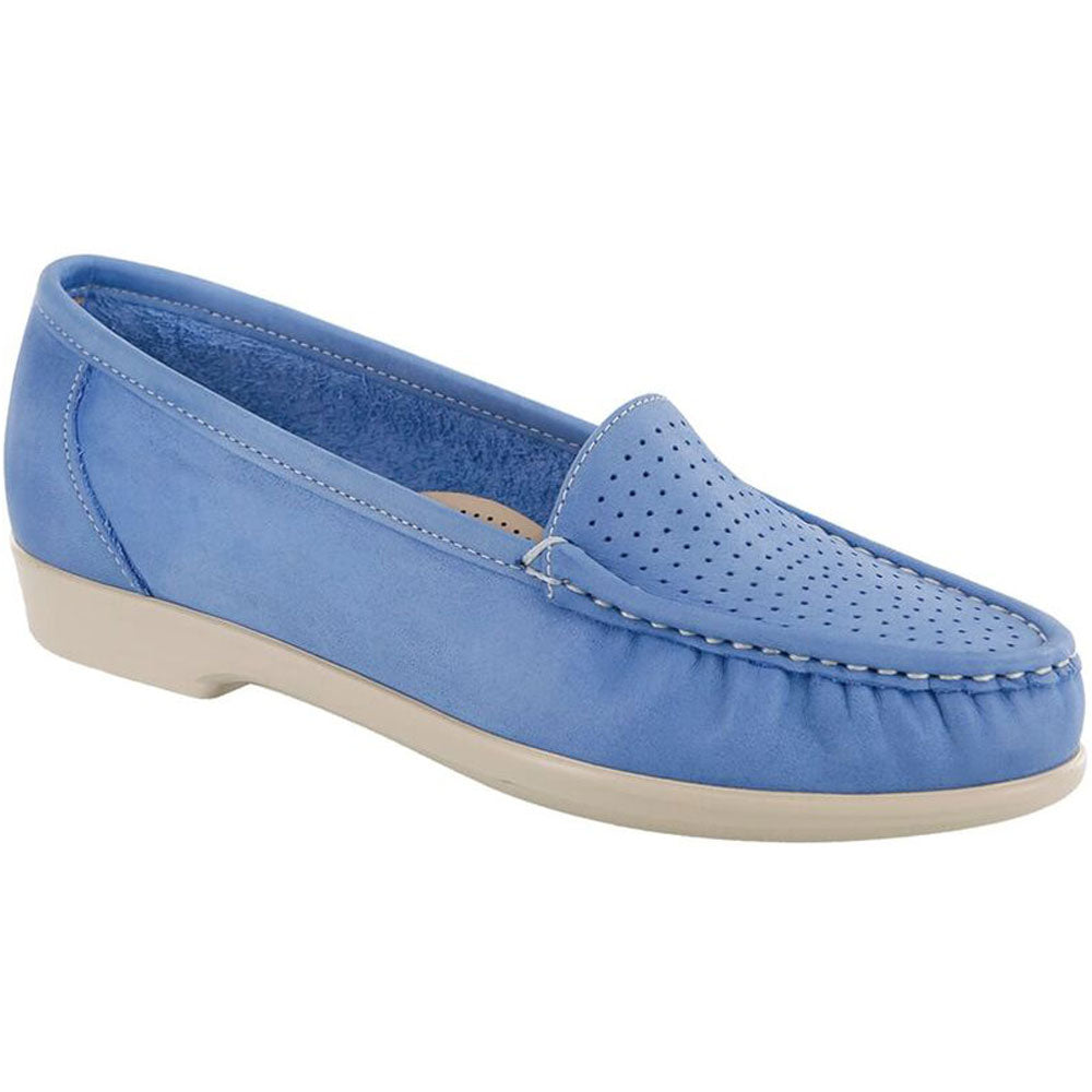 SAS Savvy Loafer in Denim Leather at Mar-Lou Shoes
