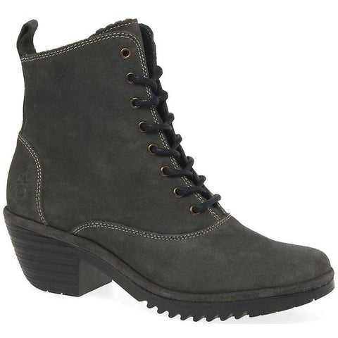 Fly Wune Boot in Diesel Oil Suede at Mar-Lou Shoes