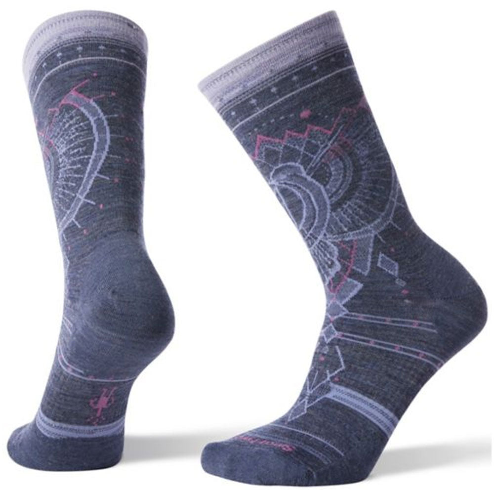 Women's Mountain Magpie Crew Socks in Dark Blue Steel