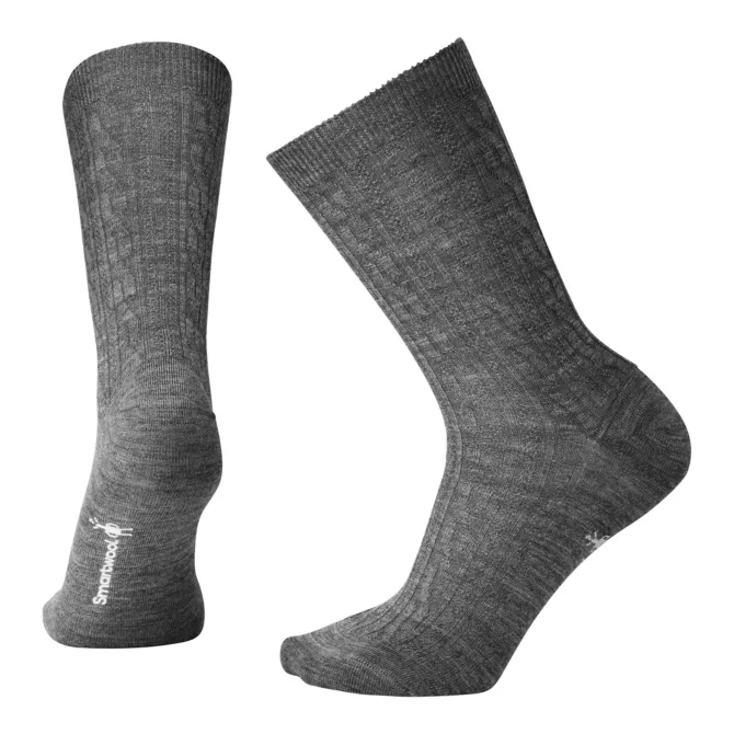 Smartwool Women's Cable II Socks Medium Grey | Mar-Lou Shoes