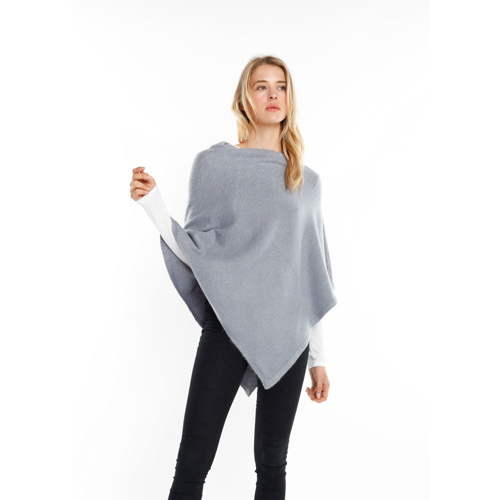 Look by M Basic Cashmere Blend Poncho in Dusky at Mar-Lou Shoes