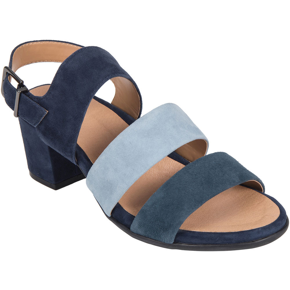 Tierra Leather Sandal in Indigo Suede Leather