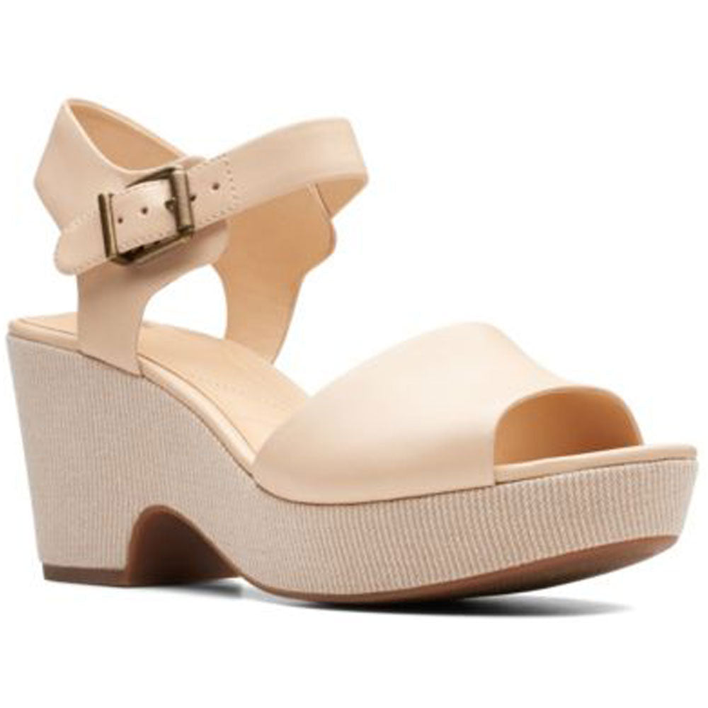 Maritsa Janna Sandal in Ecru Leather