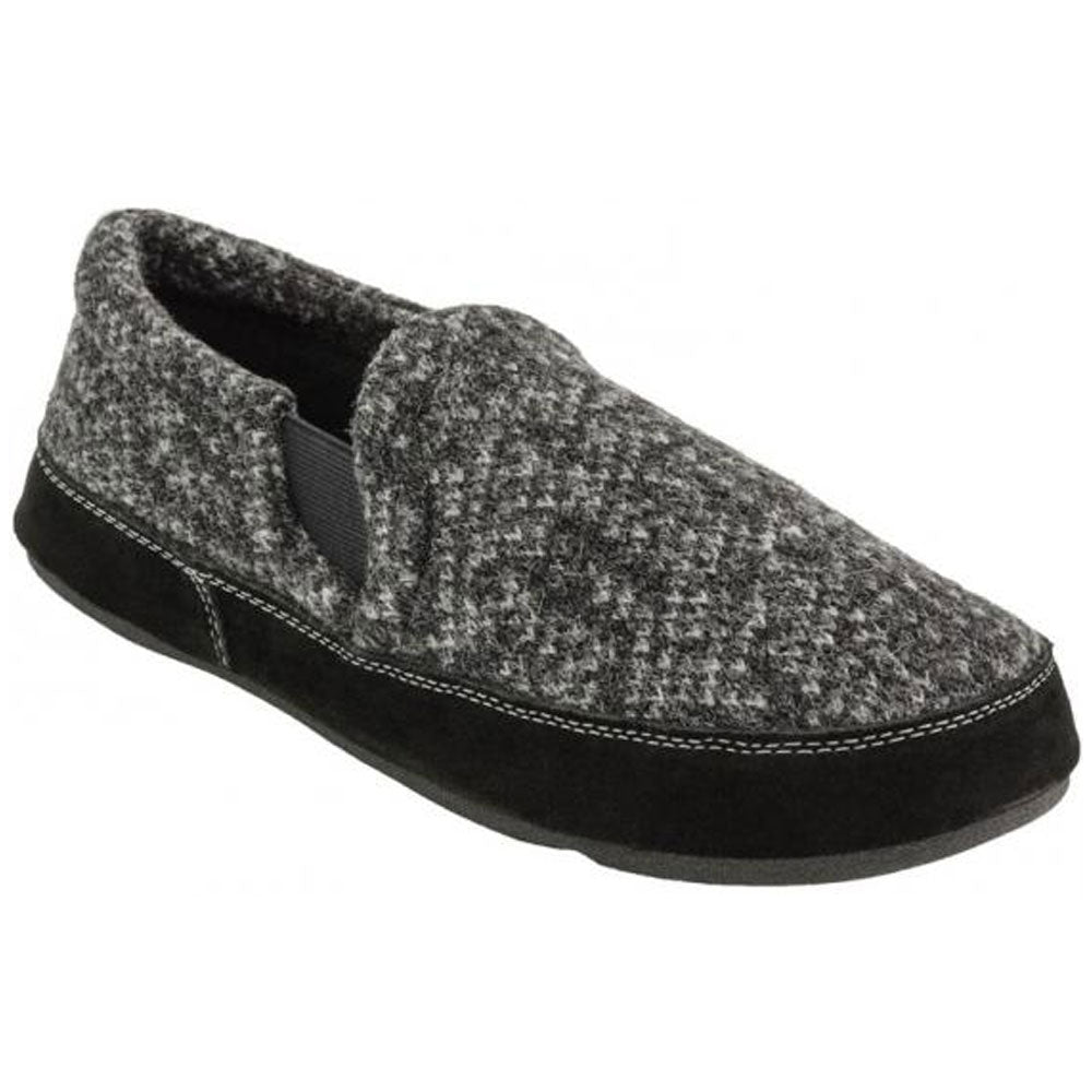 Acorn Men's Fave Gore Slippers in Charcoal at Mar-Lou Shoes