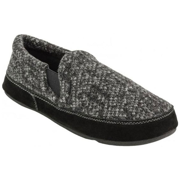 Fave Gore Slippers in Charcoal