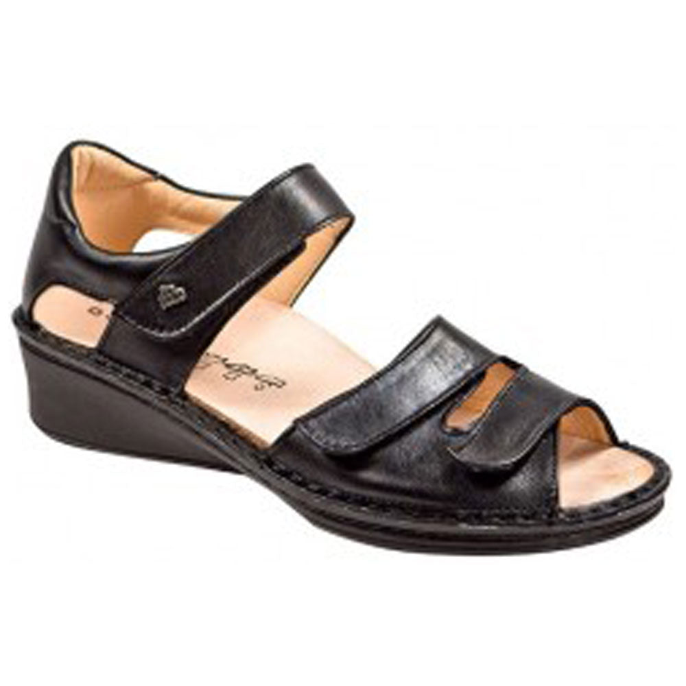 Fes Sandal in Black Nappa Leather