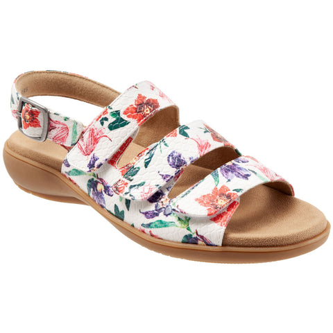 Vine Sandal in Floral Multi Leather