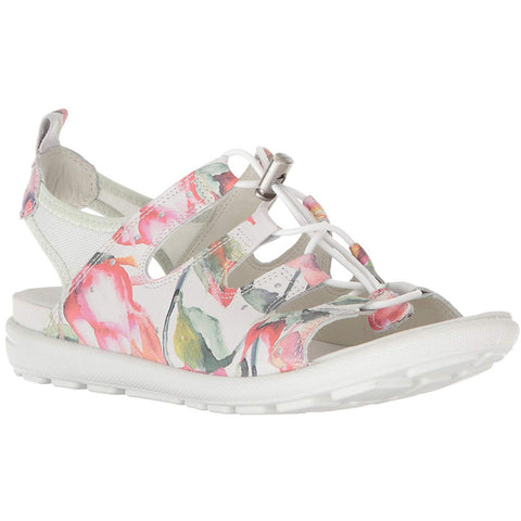 ECCO Jab Sandal in Flower Print at Mar-Lou Shoes