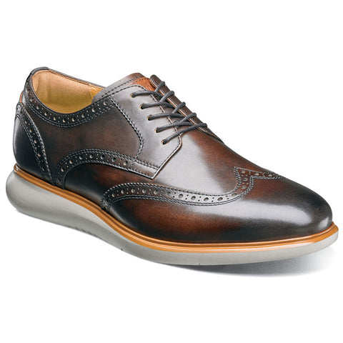 Fuel Wingtip Oxford in Brown Leather