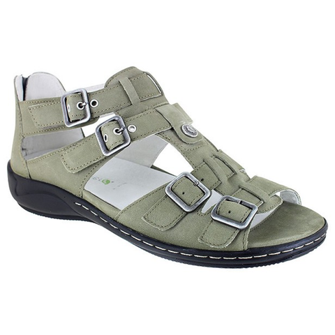 Waldlaufer Gladiator Sandal in Safari Nubuck at Mar-Lou Shoes