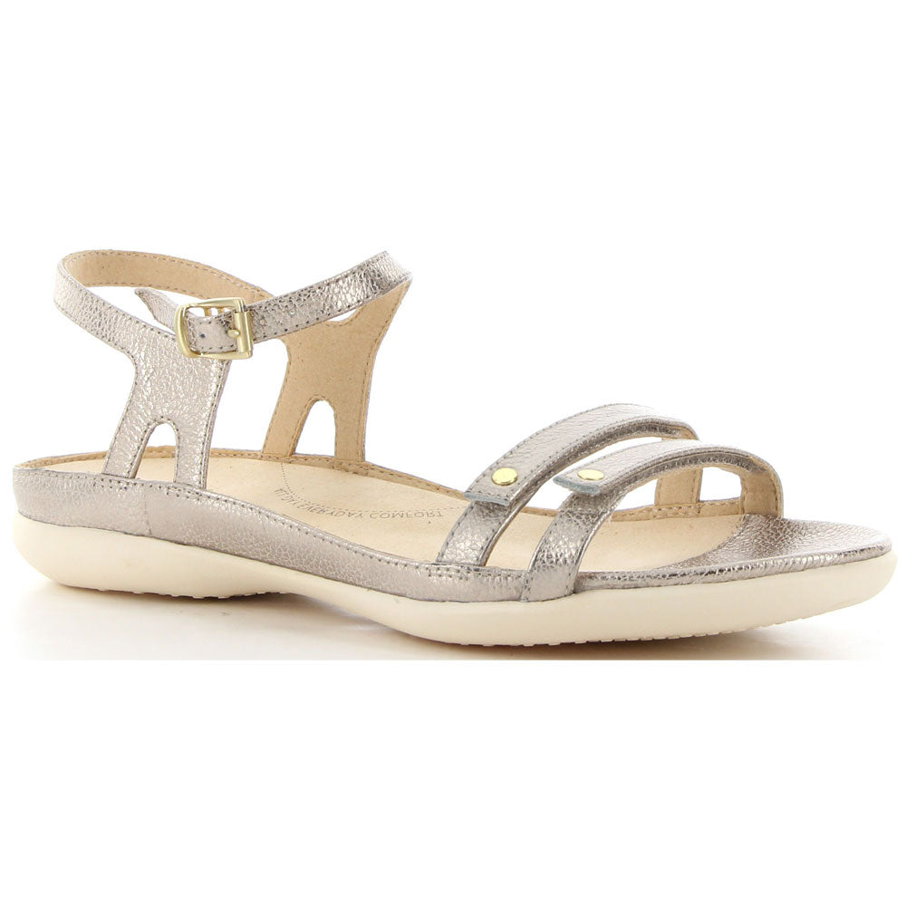 Breeze Sandal in Gold Brush Off Leather