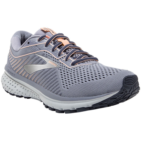Brooks Women's Ghost 12 in Granite/Peacoat/Peach at Mar-Lou Shoes