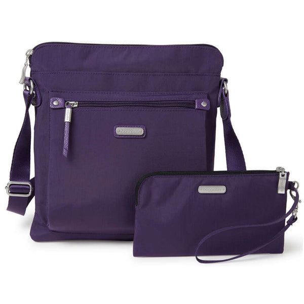 baggallini Go Bagg with RFID Phone Wristlet in Grape Jelly from Mar-Lou Shoes