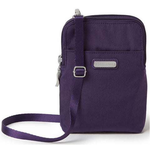 Baggallini Take Two RFID Bryant Crossbody in Grape Jelly at Mar-Lou Shoes