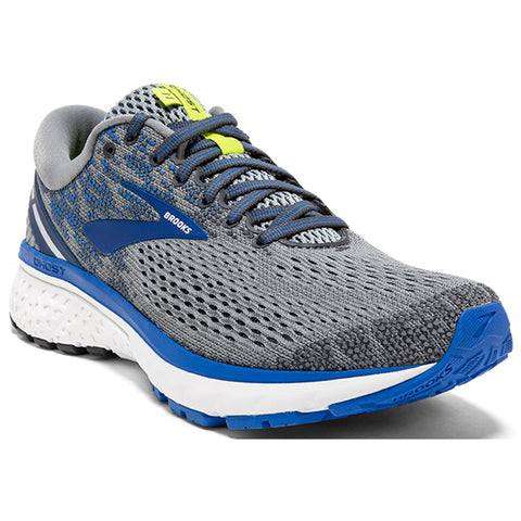 Brooks Men's Ghost 11 in Gray/Blue/Silver at Mar-Lou Shoes