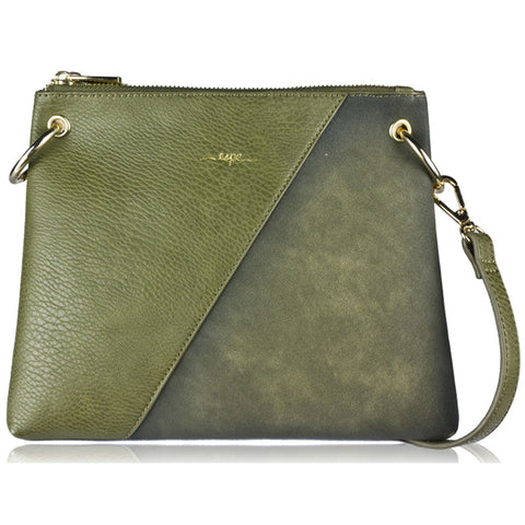Espe Carrie Crossbody Purse in Green at Mar-Lou Shoes