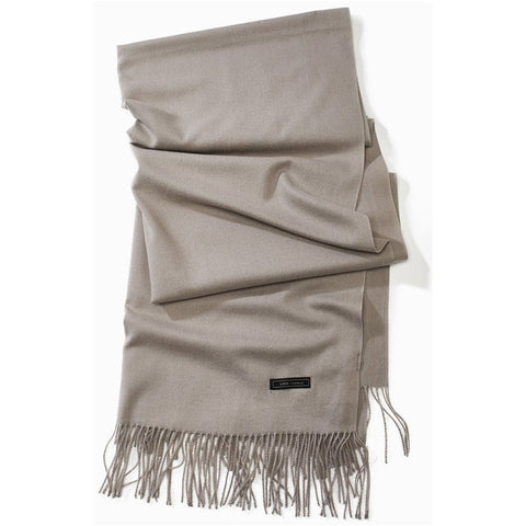 Look by M Soft Basic Cashmere Scarf in Grey at Mar-Lou Shoes