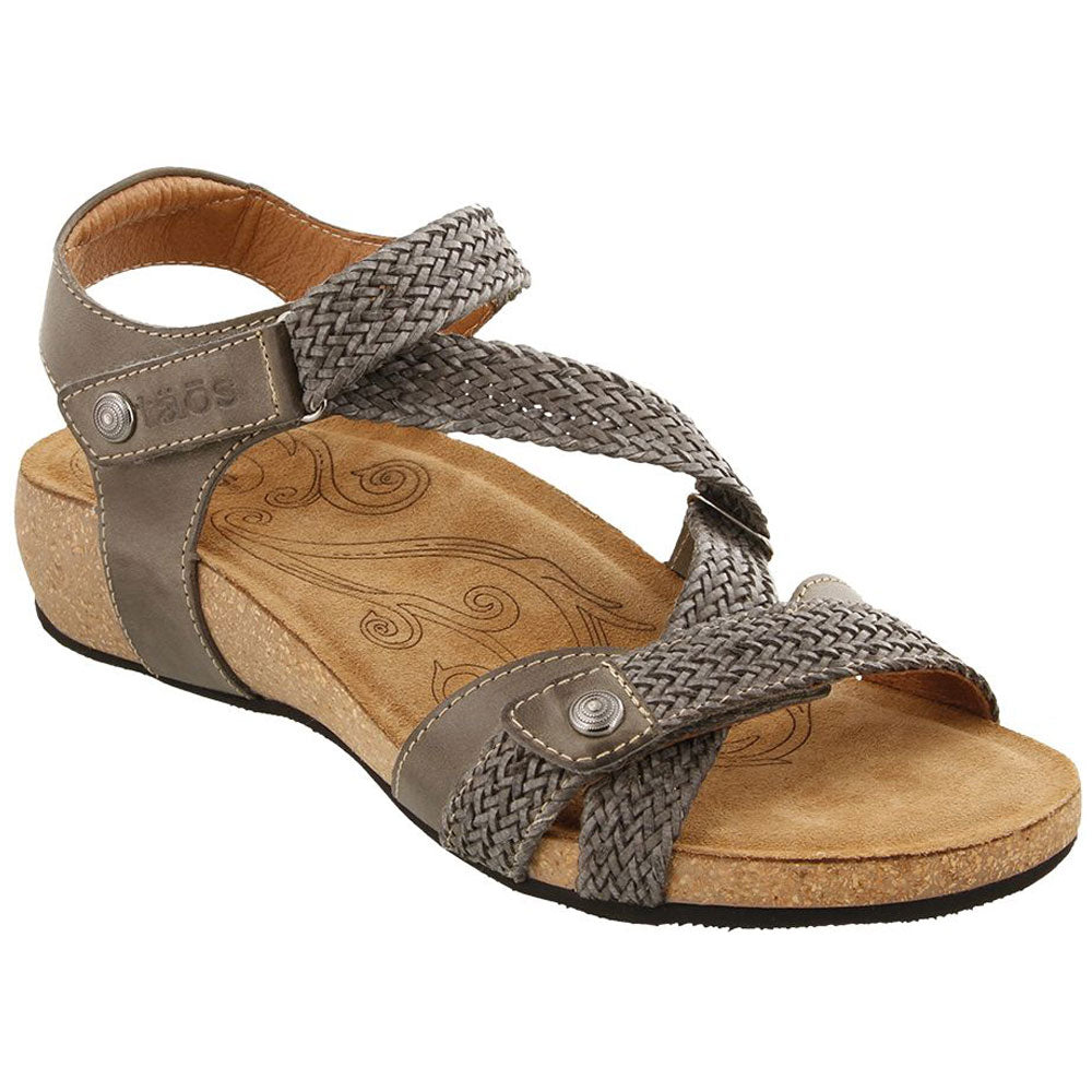 Taos Trulie Sandal in Dark Grey Leather at Mar-Lou Shoes