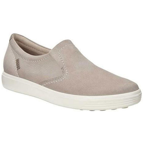 ECCO Soft 7 Slip-On II Sneaker in Warm Grey/Moon Rock Leather at Mar-Lou Shoes