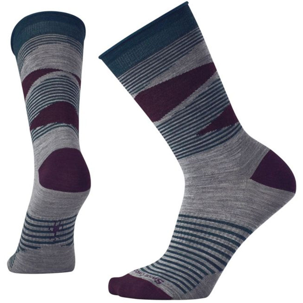 Women's First Mate Non-Binding Crew Socks in Light Grey Heather