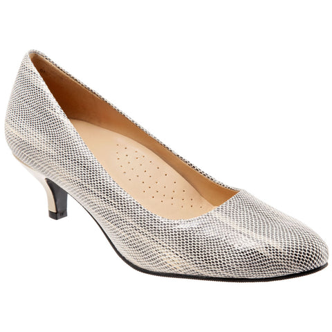 Kiera in Grey Embossed Leather