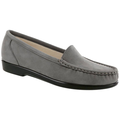 SAS Simplify Loafer in Grey Nubuck at Mar-Lou Shoes