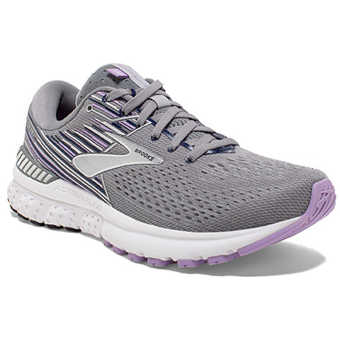 Brooks Women's Adrenaline GTS 19 in Grey/Lavender/Navy at Mar-Lou Shoes