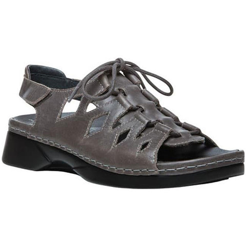 Propet Ghillie Walker Sandal in Grey Leather at Mar-Lou Shoes