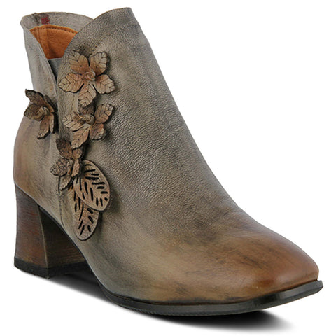 Loralie Bootie in Grey Leather