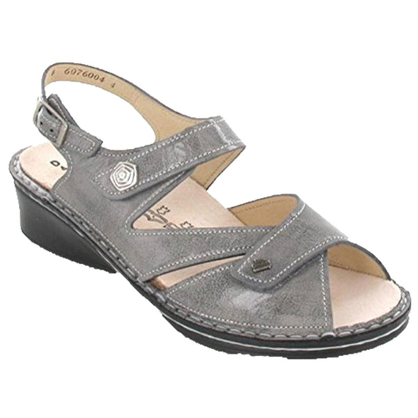 Santorin Sandal in Grey Apanas Leather