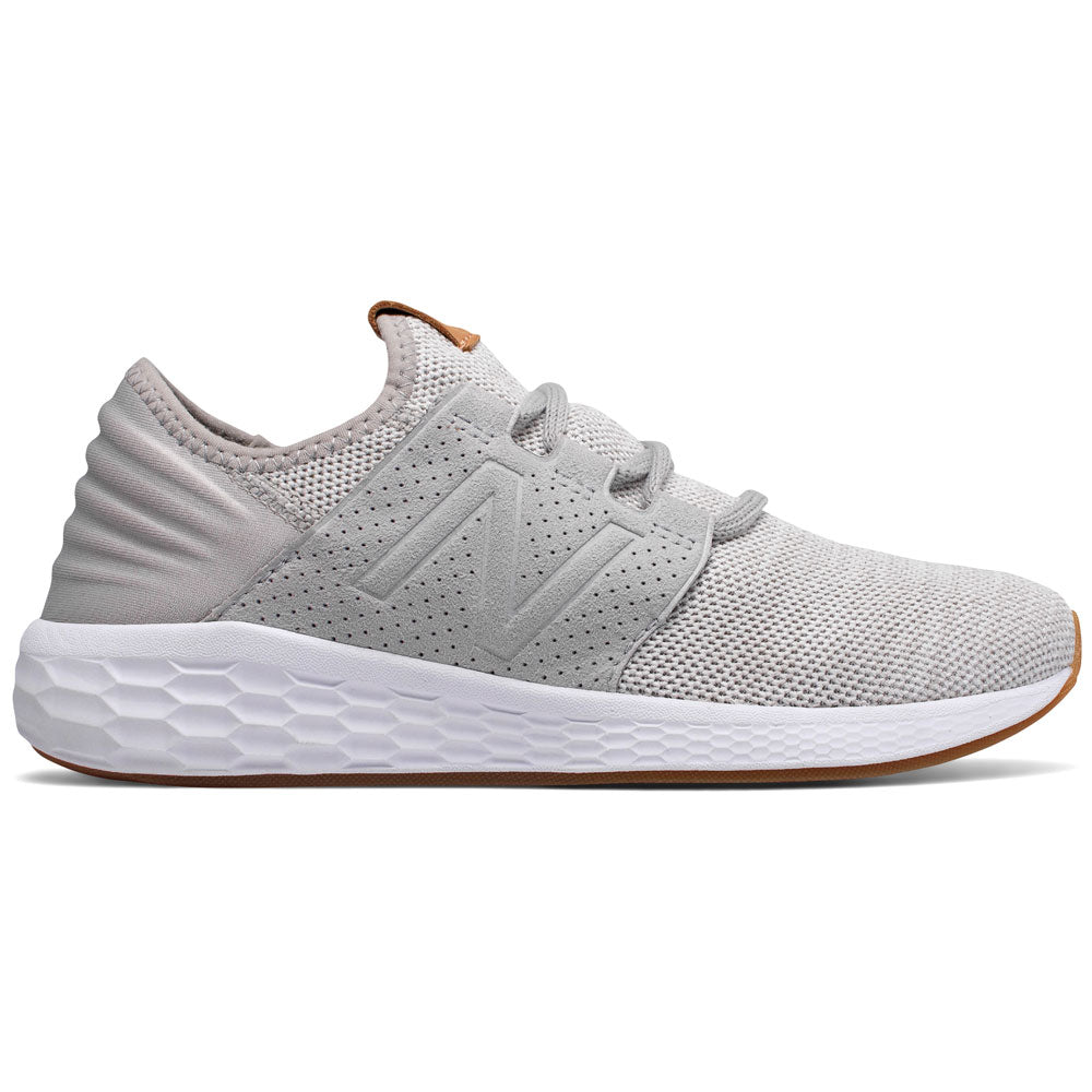 New Balance Women's Fresh Foam Cruz v2 Knit in Rain Cloud with White Munsell at Mar-Lou Shoes
