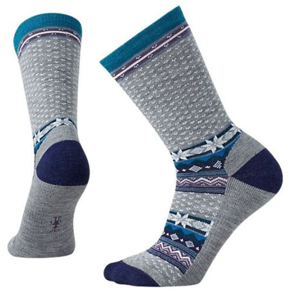 Smartwool Women's Cozy Cabin Crew Socks in Grey at Mar-Lou Shoes