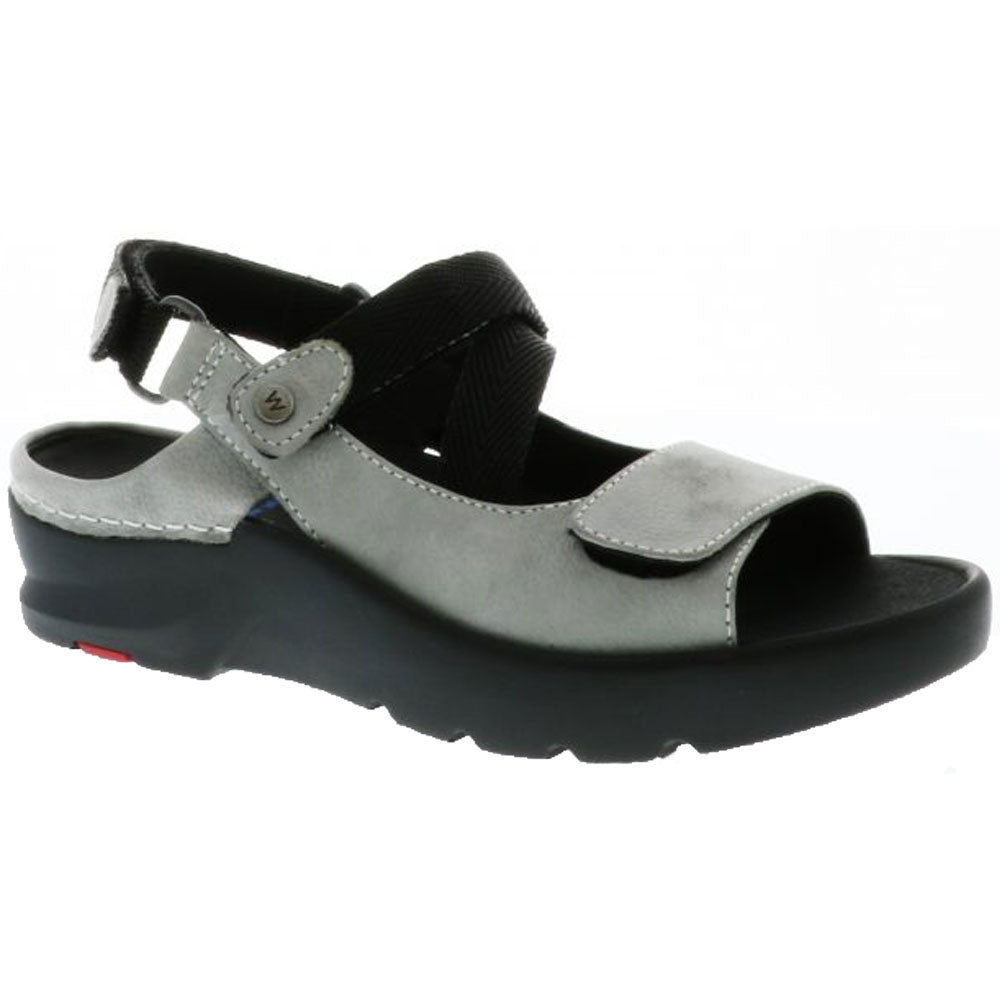 Lisse Sandal in Light Grey Antique Nubuck
