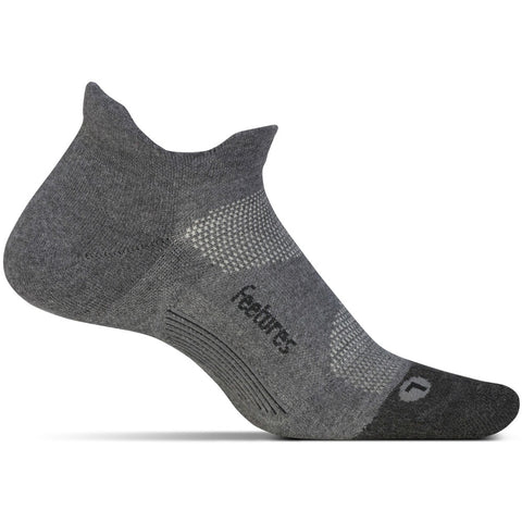 Unisex Elite Max Cushion No Show Tab Socks in Grey