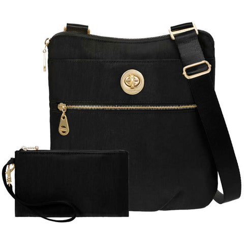 baggallini Hanover Crossbody in Black at Mar-Lou Shoes