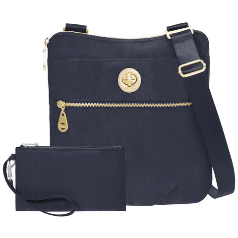 baggallini Hanover Crossbody in Navy at Mar-Lou Shoes