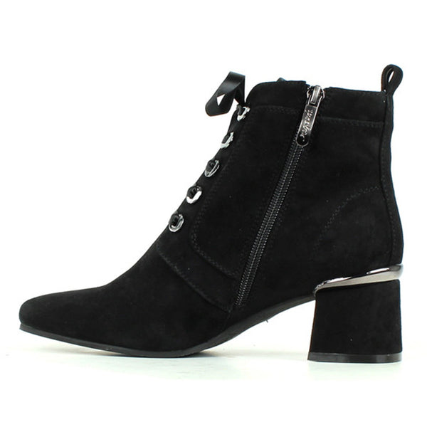 Illary 27 Boot in Black Suede