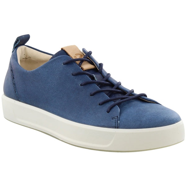 ECCO Men's Soft 8 Sneaker in Indigo at Mar-Lou Shoes