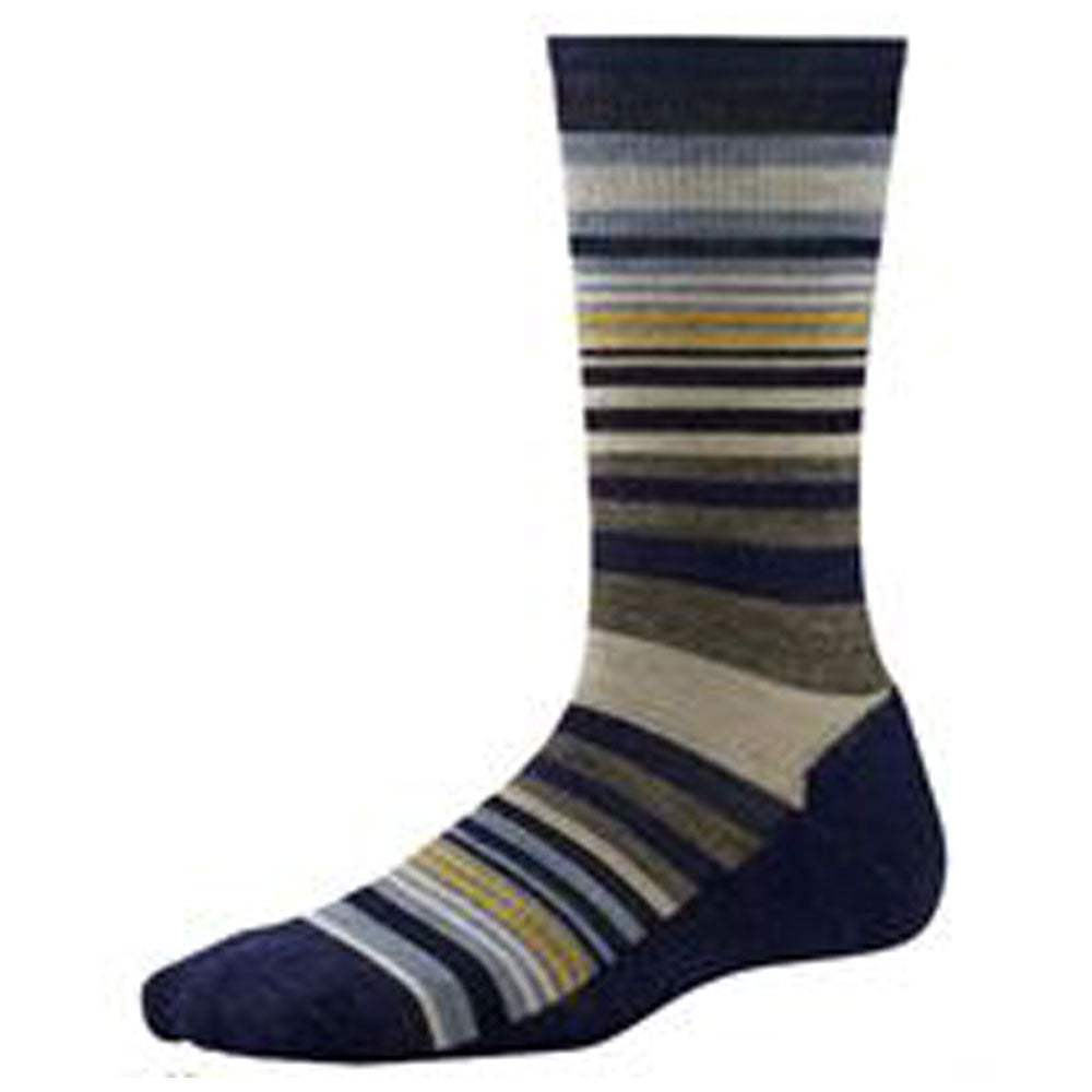 Women's Jovian Stripe Crew Socks in Ink Heather