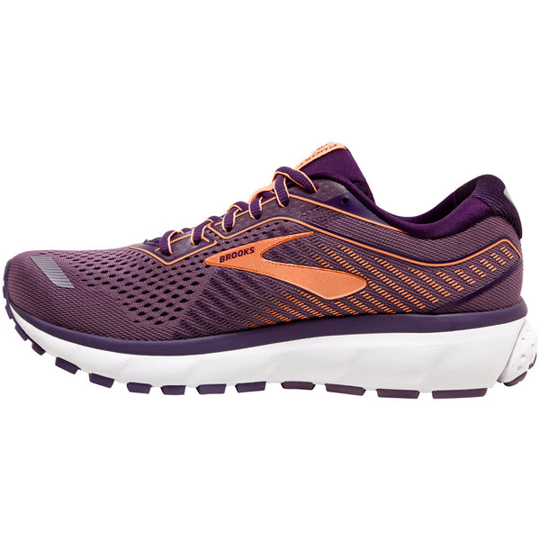 Brooks Women's Ghost 12 in Jewel/Grape/Cantaloupe at Mar-Lou Shoes