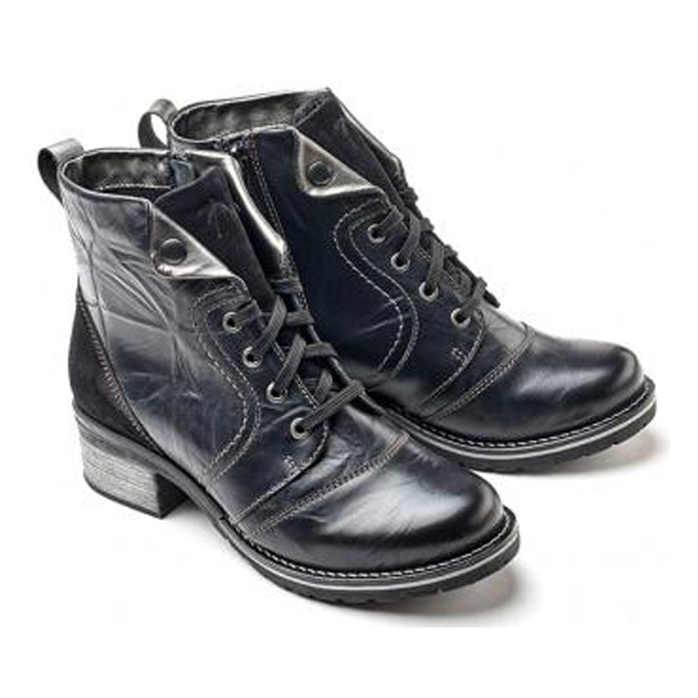 Dromedaris Karissa Boot in Black Soft Leather at Mar-Lou Shoes