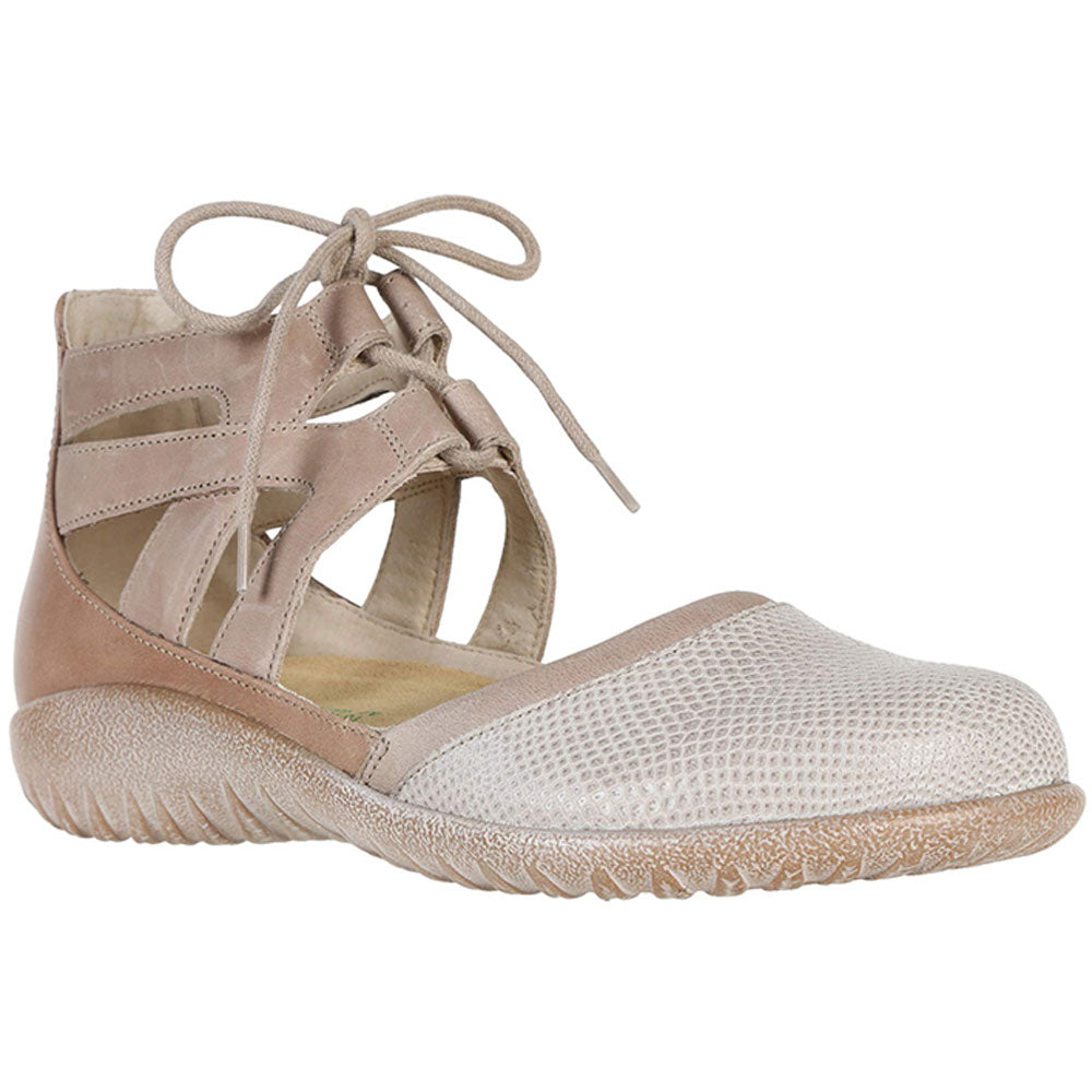 Naot Kata Sandal in Beige Lizard at Mar-Lou Shoes