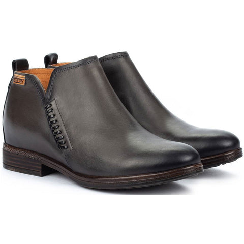 Pikolinos Ordino Booties in Lead Leather at Mar-Lou Shoes