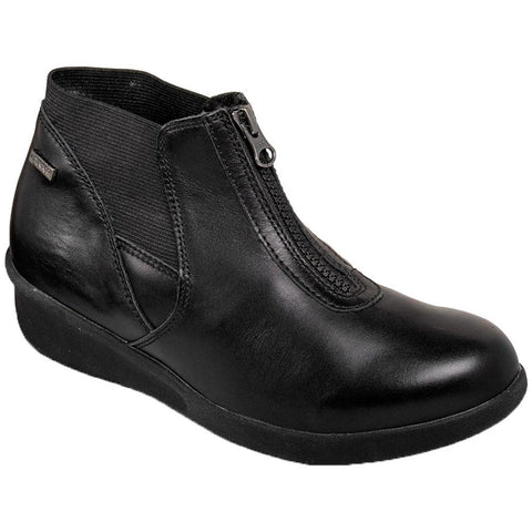 Aravon Laurel Waterproof Bootie in Black at Mar-Lou Shoes