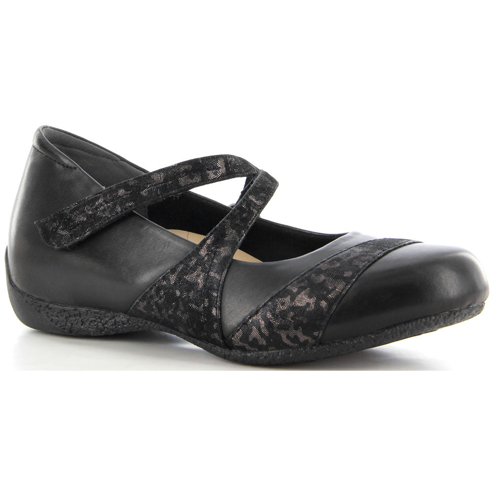 Ziera Xray in Black/Metallic/Leopard at Mar-Lou Shoes