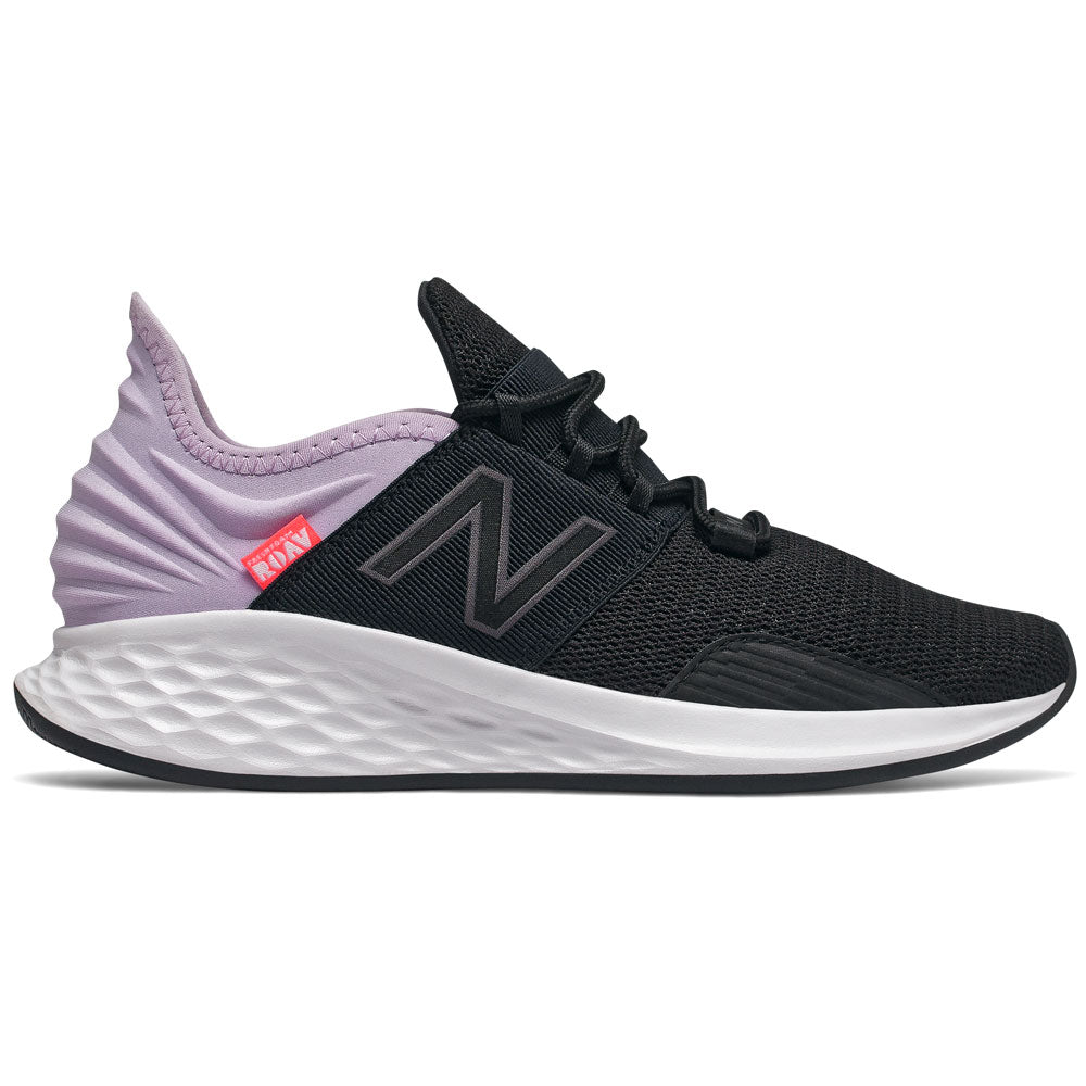 Women's Fresh Foam Roav in Black with Dark Violet Glo and Magnet