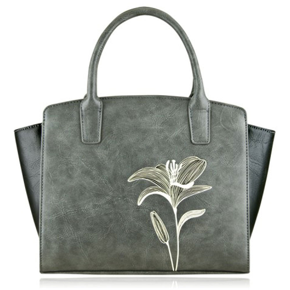 Lily Mini Tote in Grey