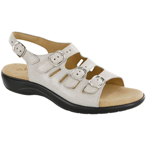 SAS Mystic Sandal Web Linen Leather at Mar-Lou Shoes