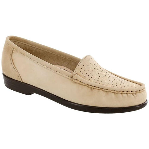 SAS Savvy Loafer in Linen Leather at Mar-Lou Shoes