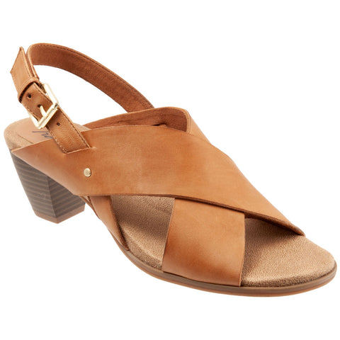 Trotters Michelle Slingback Sandal in Light Luggage Leather at Mar-Lou Shoes